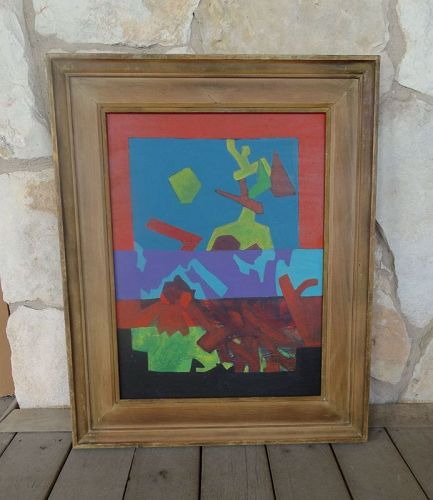 Midcentury Modern Painting by Texas Artist Mildred Cocke (1903-94)