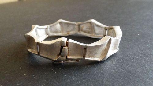 Vintage Sterling Finland Modernist Bracelet Signed Lapponia Style