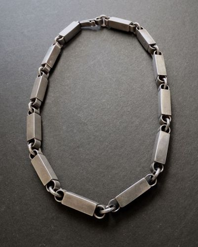 Modernist David Andersen Marianne Berg Sterling Choker Necklace UNI