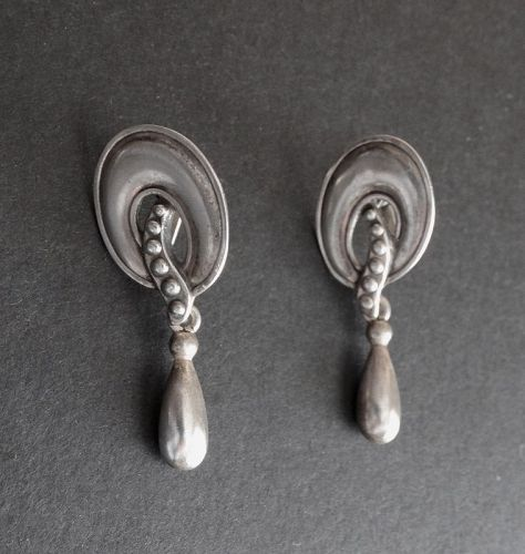 Vintage Margot de Taxco Sterling 5740 Earrings Eagle #16 Dangle