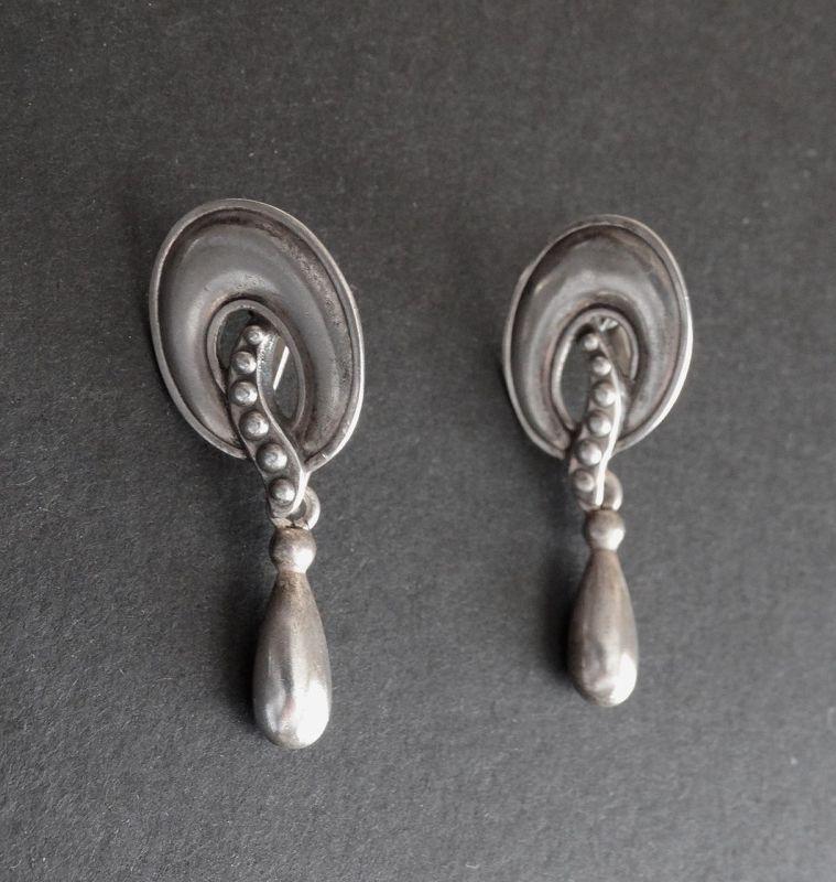 Vintage Margot de Taxco Sterling 5740 Earrings Eagle #16 Dangle