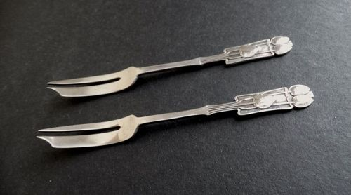 Liberty & Co. Archibald Knox Pair of Forks Sterling Silver Birmingham