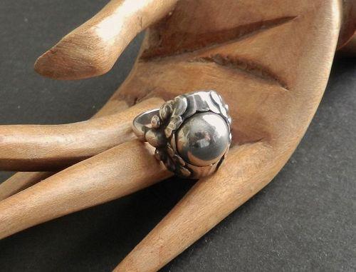 Vintage Georg Jensen GJ Sterling Ring 11 A Size 6.5 1933-44 Denmark