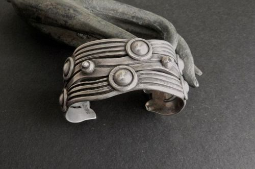 William Spratling Sterling Cuff Bracelet Taxco River of Life 980