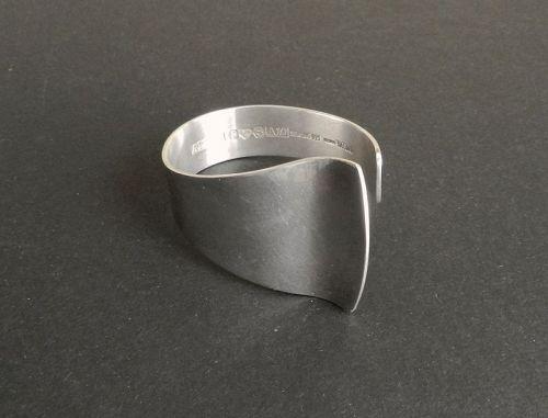 Alton Cuff Bracelet Sweden Per Davik Modernist Sterling Silver 1975