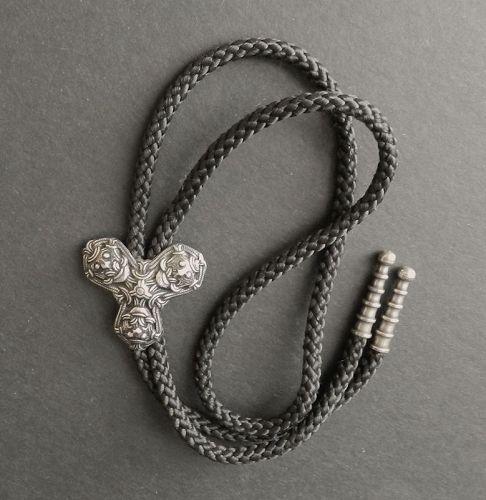 David Andersen Norway Sterling Silver Bolo Pendant Viking Design