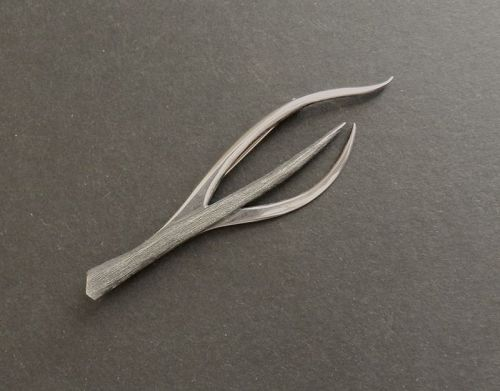 "Modernist Sterling Jean Lasnier Large 4"" Brooch Studio Pitchfork MCM"