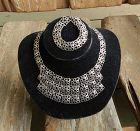 Liisa Vitali Finland N Westerback Sterling Lace Necklace & Bracelet
