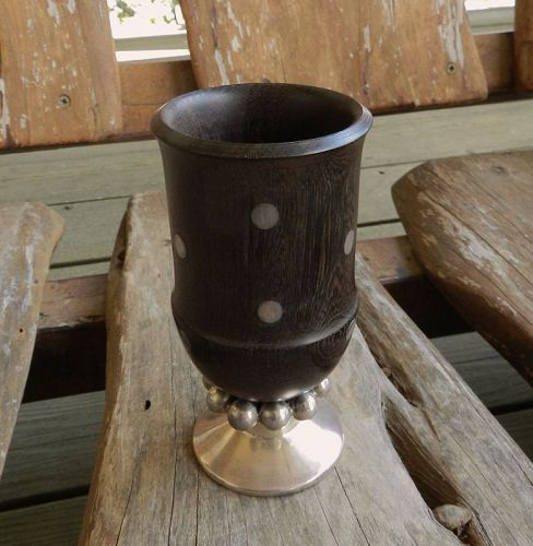 William Spratling Sterling Ebony Modernist Cup Goblet Taxco 1951-67