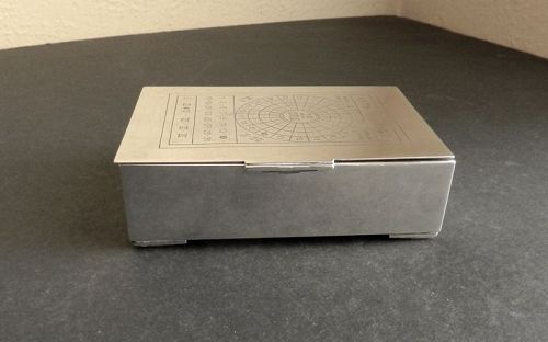 Evald Nielsen 1938 Danish Sterling Silver Box  Engraved Train Transfer