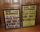 Gore Vidal 1960 Playhouse Posters Pair Hyde Park NY March to the Sea
