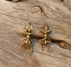 Vtg Hand Wrought Erotic Bronze Nude Earrings Pierced Pal Kepenyes Attr