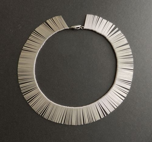 Rare Anton Michelsen Denmark Fringe Necklace Sterling Modernist 15 1/2