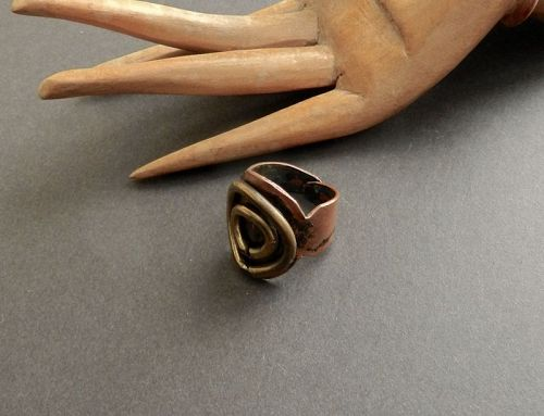 Vintage JB Pericles Haiti Hand Wrought Ring Adjustable Modernist