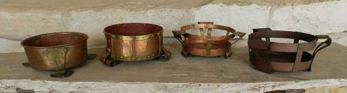 Benedict Art Studios Hammered Copper & Brass Planters