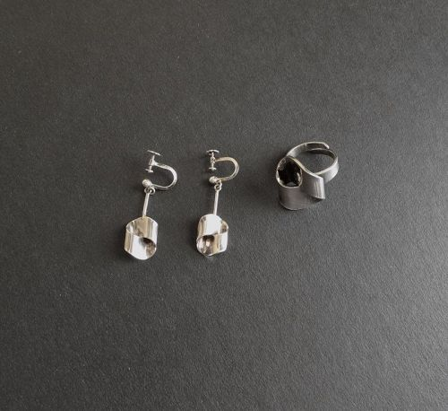 Alton Sweden Modernist Knot Ring and/or Earrings Sterling Your Choice
