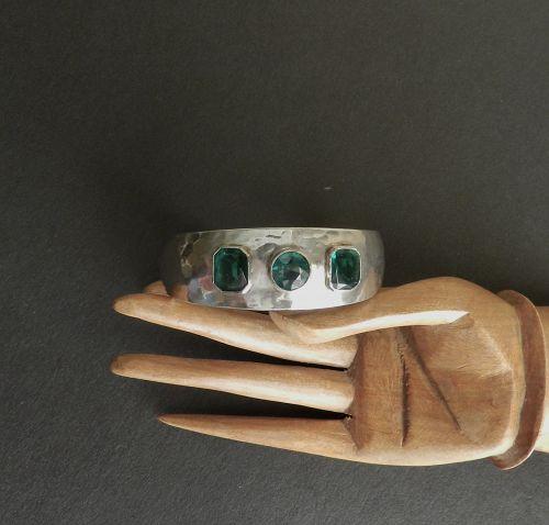 Carl Henry Didrich CHD Handwrought Hammered Sterling Bracelet Cuff