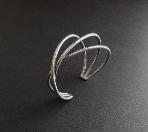 Hans Hansen Sterling Silver Cuff Bracelet Modernist HaH Allan Scharff