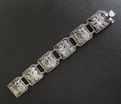 Vintage Norway David Andersen Sterling Storyteller Bracelet Early Mark