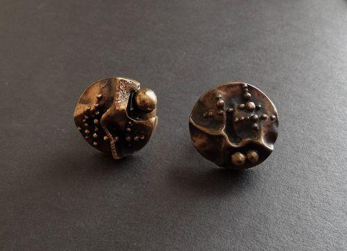 Hannu Ikonen Finland Your Choice Large Bronze Brutalist Rings Adjustab