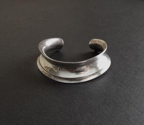 Modernist Palle Bisgaard Denmark Sterling Torque Cuff Bracelet MCM