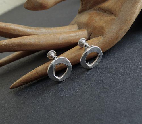 Modernist John Lewis Sterling Bracelet & Earrings Set or Individually