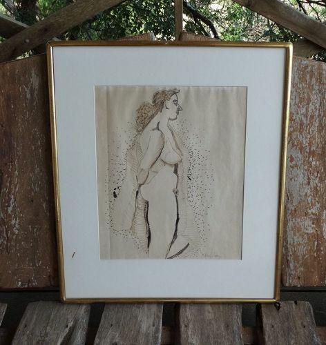 Milton Avery Nude Flobrush Painting circa 1955 Alpha Gallery Boston