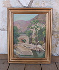 Listed California Artist Lillias Waddell Painting