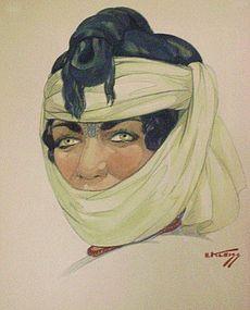 HANS KLEISS, FEMME BERBERE DU MAROC, 1950