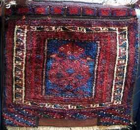 ANTIQUE KURD BAG FRONT, FIRST QUARTER
