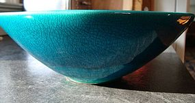 POL CHAMBOST LARGE EGYPTIAN BLUE BOWL