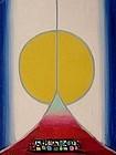 HENRY KALLEM, MONHEGAN SUNSET, OIL ON PANEL, 1965