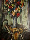 HARRY SHOULBERG, FLORAL STILL LIFE, CIRCA 1950S