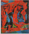 """JOSEPH WOLINS """"FIGURES ON RED GROUND"""""""