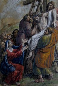 19th CENTURY WC, CHRIST TAKEN DOWN FROM THE CROSS