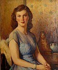 DENMAN FINK, UNTITLED OIL PAINTING, 1943