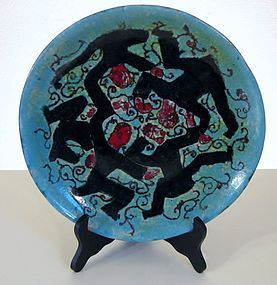 LIFAS (ALICE SORDET BONIFAS) DECORATED PLATE