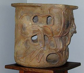 LARGE MIXTEC ZAPOTEC PRE-COLUMBIAN INCENSARIO