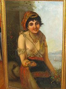 JEANNE DUQUESNOY, MARCHANDE DE FLEURS, 1890