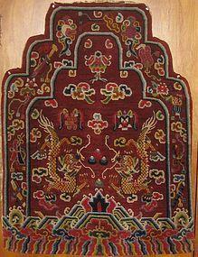 ANTIQUE TIBETAN THRONE BACK COVER
