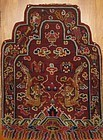 ANTIQUE TIBETAN THRONE BACK COVER