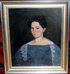 SCHOOL OF AMMI PHILLIPS PORTRAIT OF A BEAUTIFUL WOMAN