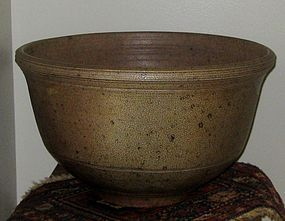 CYNTHIA BRINGLE OVERSIZE SALT FIRED EARLY BOWL