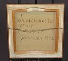 """LOWELL NESBITT """"ANEMONE"""" 1982 ANDREW CRISPO GALLERY"""