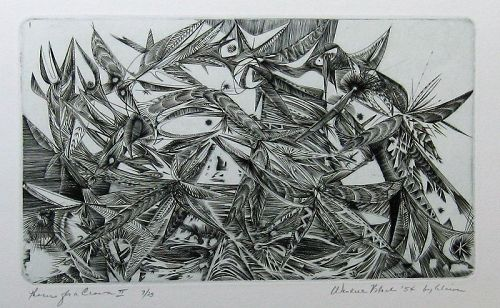 "WENDELL H. BLACK ""THORNS FOR A CROWN-II"" ORIGINAL ENGRAVING"