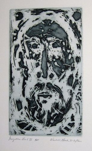 "WENDELL H. BLACK ""GOLGOTHA HEAD IV"" ETCHING 1961"