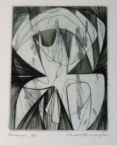 "WENDELL H. BLACK ""ARCHANGEL"" COPPER ENGRAVING 1965"