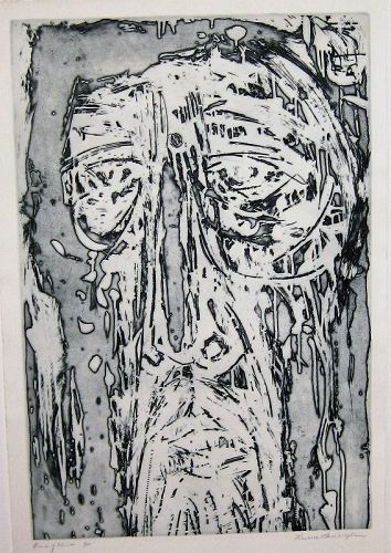 "WENDELL H. BLACK ""HEAD OF CHRIST"" ETCHING 1961"