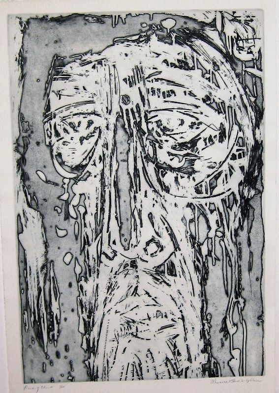 """WENDELL H. BLACK """"HEAD OF CHRIST"""" ETCHING 1961"""