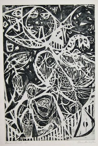 "WENDELL H. BLACK ""DESCENT INTO HELL I"" ETCHING 1970"